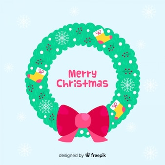 Christmas wreath with big bow
