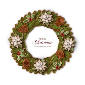 Рождественский венок с пряниками