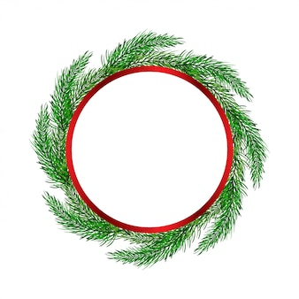 Christmas wreath with tree branches