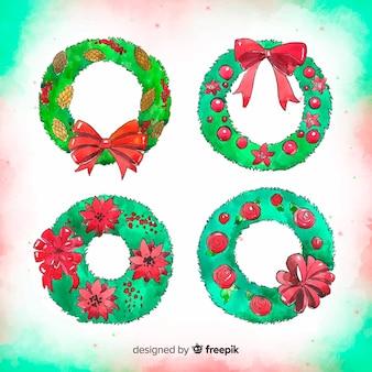 Christmas wreaths set