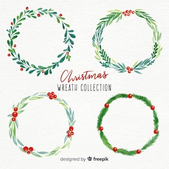 Christmas wreaths set