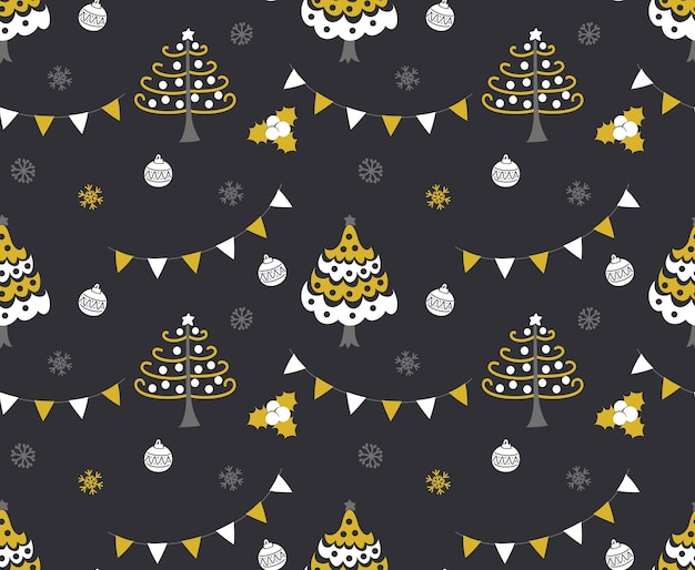 Christmast tree seamless background