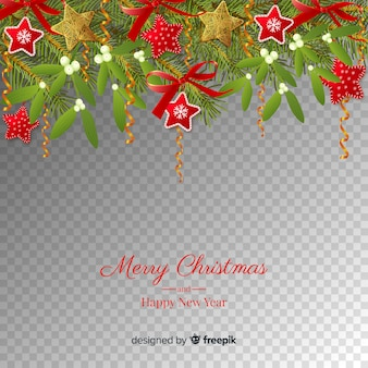 christnas and new year transparent background