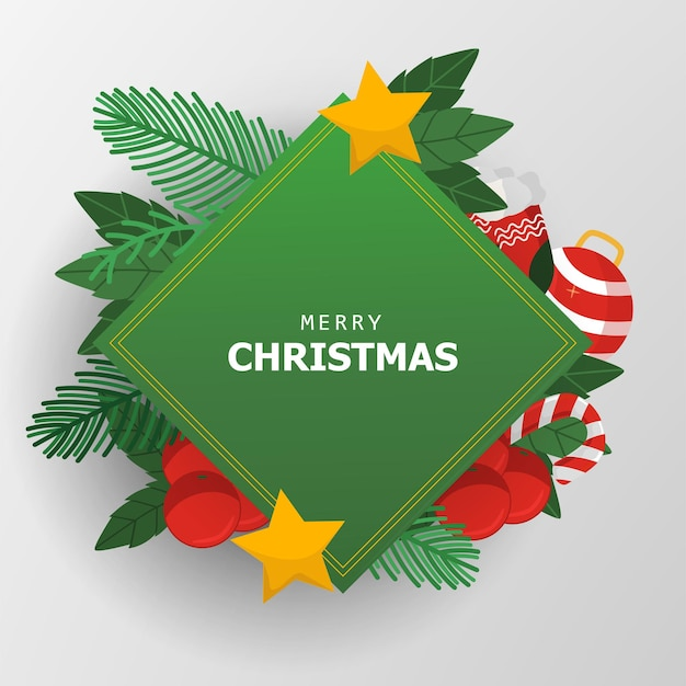 Chritmas background paper cut style with ornament christmast for greeting card