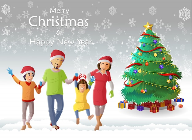 Chritmas and new year greeting card