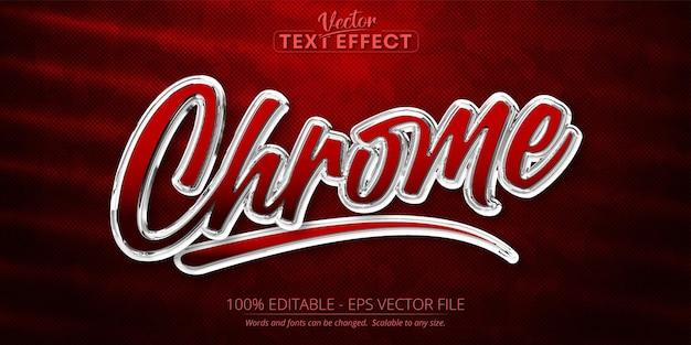 Chrome editable text effect