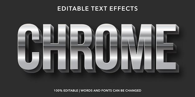 Chrome編集可能なテキスト効果