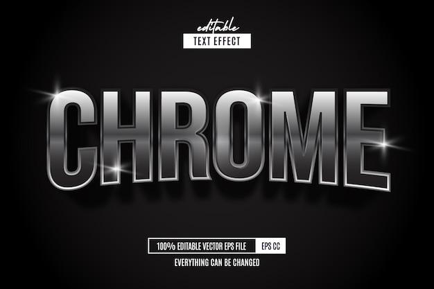 Хром серебряный текстовый эффект редактируемый текстовый эффект стиль шрифта