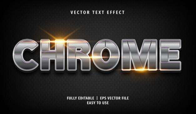Эффект chrome text, редактируемый текстовый стиль
