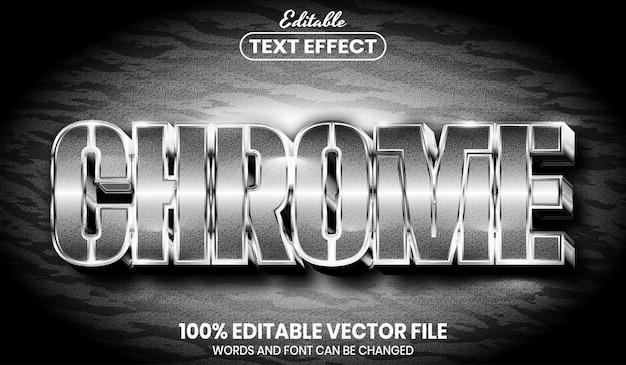 Текст chrome, редактируемый текстовый эффект в стиле шрифта