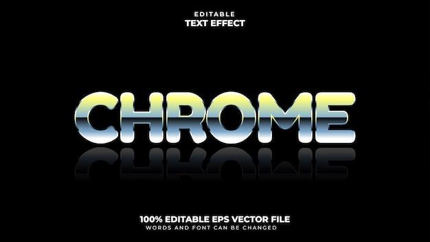 Эффект стиля текста chrome