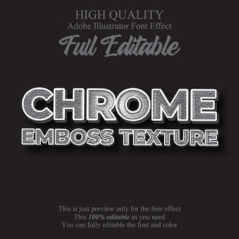 Chrome texture editable graphic style text effect