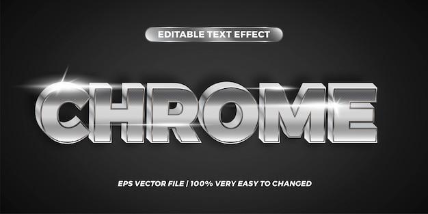 編集可能なテキスト効果-chromeテキストスタイルのコンセプト