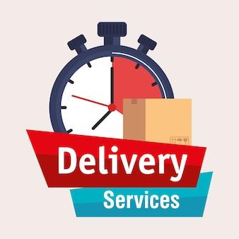 Значок службы доставки хронометра