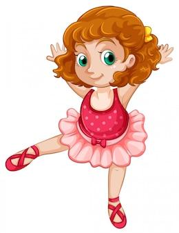 A chubby girl ballet