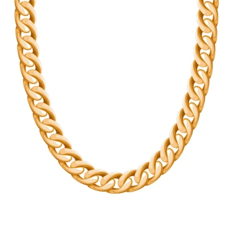 Chunky chain golden metallic necklace or bracelet. personal fashion accessory .  brush included.