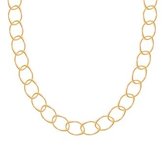 分厚いチェーンゴールデンメタリックネックレスまたはブレスレット。個人的なファッションアクセサリー。含まれているブラシ。