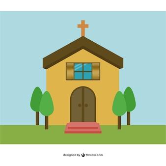 教会のベクトルの背景