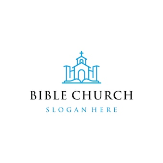 Church and bible logo design with design style