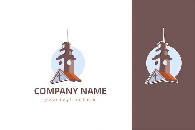 Church building logo template