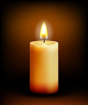 어둠 속에서 교회 촛불