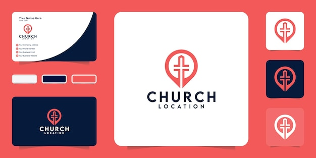 Church location inspiration logo and business card inspiration