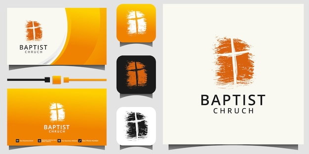 Church logo. christian or catholic symbols. cross symbol of the holy spirit