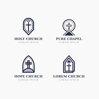 Church logo design collection