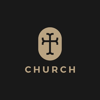 Church logo icon illustration