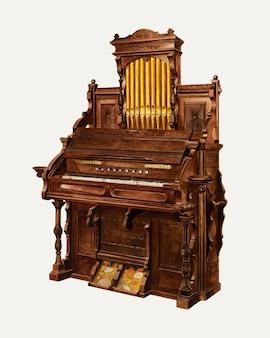 Illustrazione vettoriale di organo da chiesa, remixata dall'opera d'arte di amos c. brinton