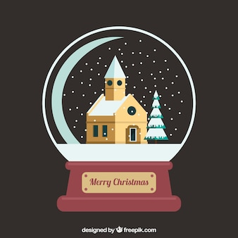 Church snowglobe background