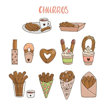 Churros or churro is a traditional spanish dessert