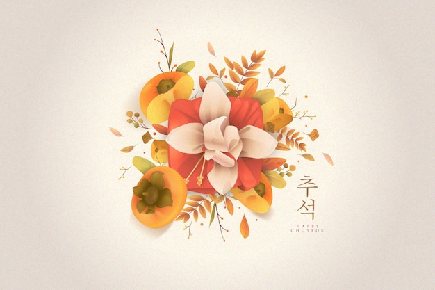Chuseok concept in flat design