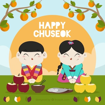 Chuseok festival background