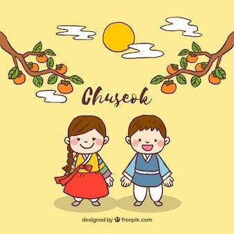 Chuseok festival background