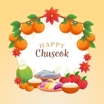 Chuseok festival drawing concept