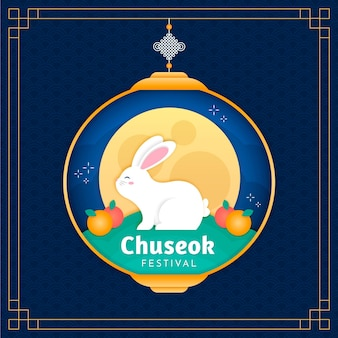 Chuseok in paper style theme