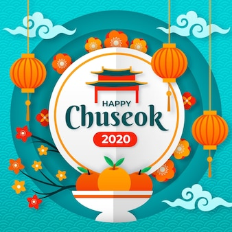 Chuseok in paper style