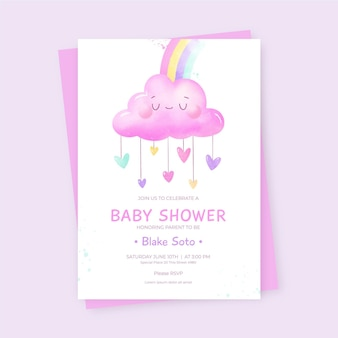 Chuva de amor baby shower invitation