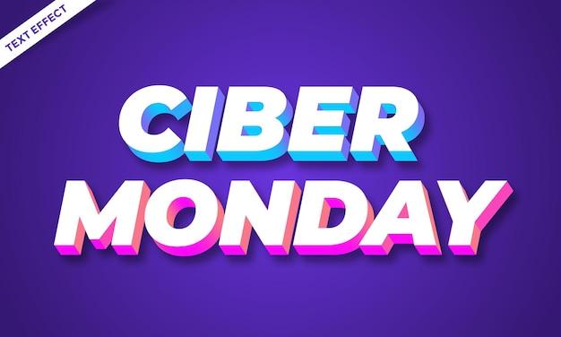 Ciber понедельник распродажа абстрактный текстовый эффект