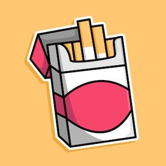 タバコの漫画のデザイン