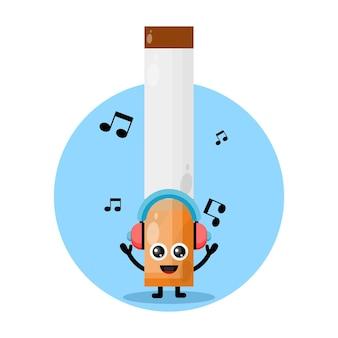 담배 음악 귀여운 캐릭터 로고