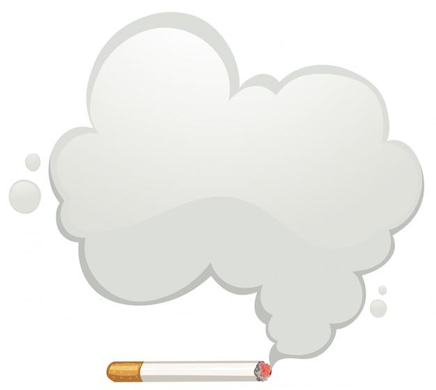 Cigarette with gray smoke