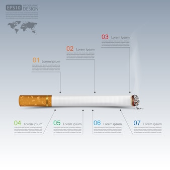 Cigarettes infographics