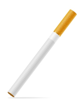 Cigarettes with yellow filter on white
