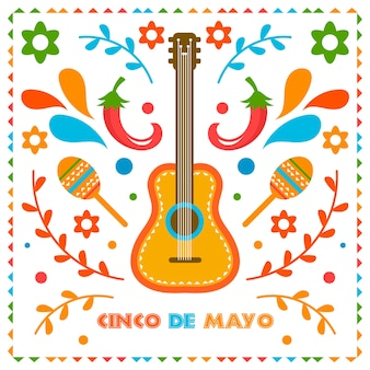 Cinco de mayo background concept