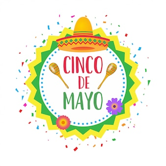 Cinco de mayo background flat cartoon style