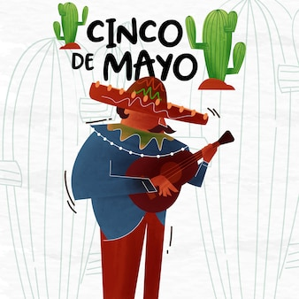 Cinco de mayo background illustration