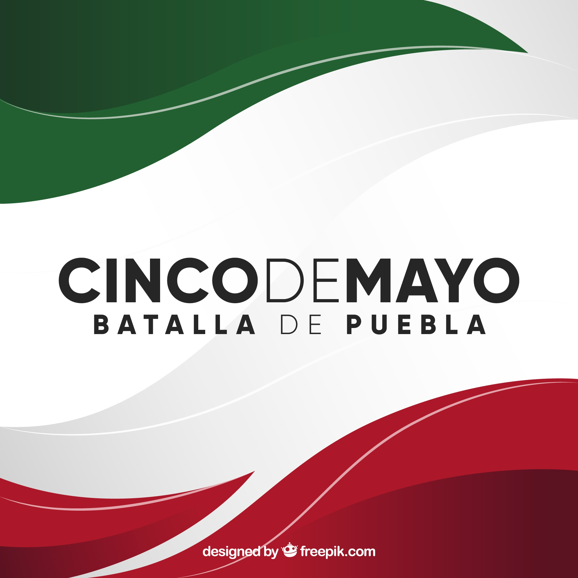 Cinco de mayo background with mexican flag