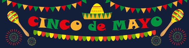 Cinco de mayo banner. mexican template for your design